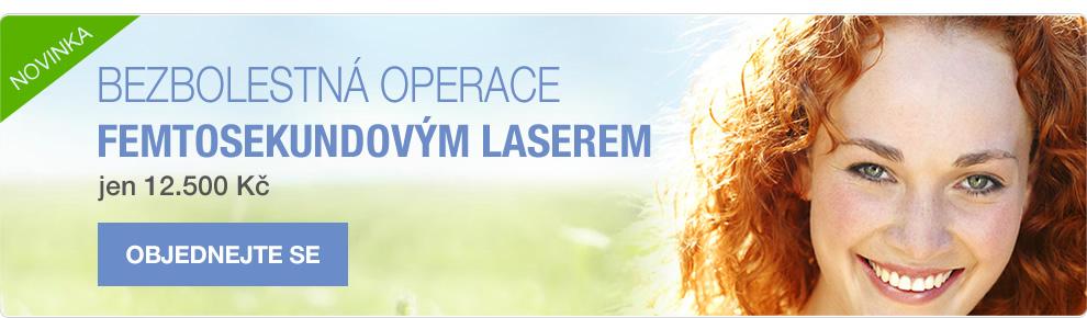 Bezbolestná operace femtosekundovým laserem