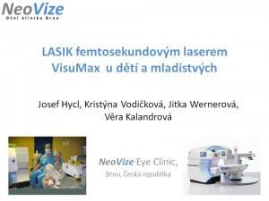 MUDr. Josef Hycl, CSc. přednášel očním lékařům