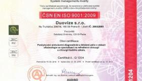Dozorový audit ISO 9001:2008 v DuoVizi