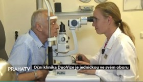 Reportáž o operaci šedého zákalu na Praha TV