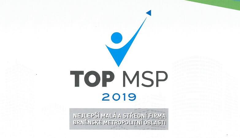 2.místo v soutěži TOP MSP 2019
