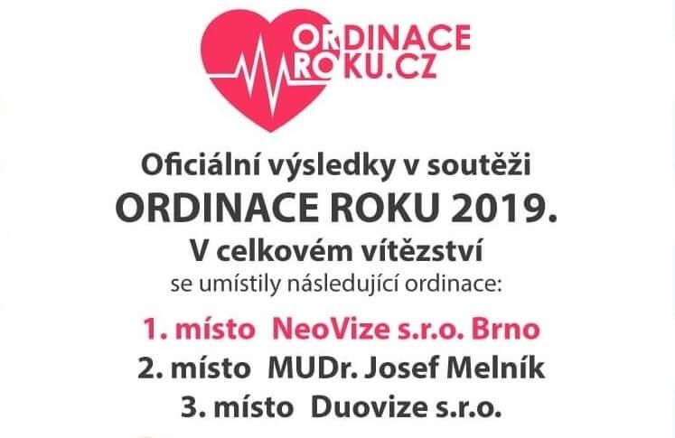 Vyhráli jsme soutěž Ordinace roku 2019