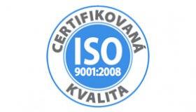 Kvalita poskytované péče je potvrzena: ISO 9001:2008