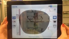 Aplikace simulující pohled přes brýlové čočky