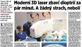 Nová šetrná laserová metoda NeoSMILE 3D®
