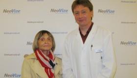 Pacientka po implantaci multifokální čočky: