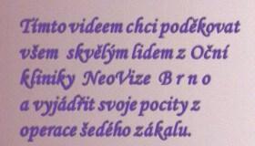 Krásné hodnocení kliniky od paní Olšanové