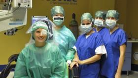 Naše kolegyně Lenka po implantaci čoček ICL