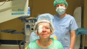 Paní Váňová po operaci katarakty: