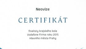 NeoVize ve finále krajského kola soutěže Firma roku