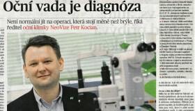 Rozhovor MF DNES s ředitelem NeoVize Petrem Kocianem