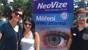 Měření zraku na Moravském náměstí v Brně