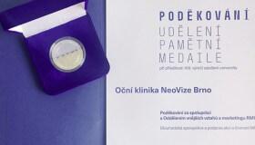 Pamětní medaile Masarykovy univerzity pro NeoVizi
