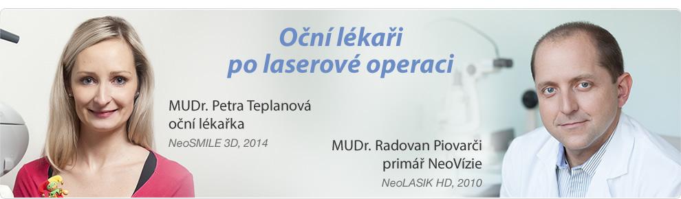 Oční lékaři po laserové operaci