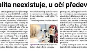 Levná kvalita neexistuje, u očních operací především